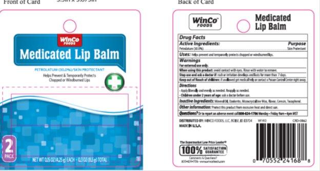 Winco Medicated Lip Balm Twin Pack