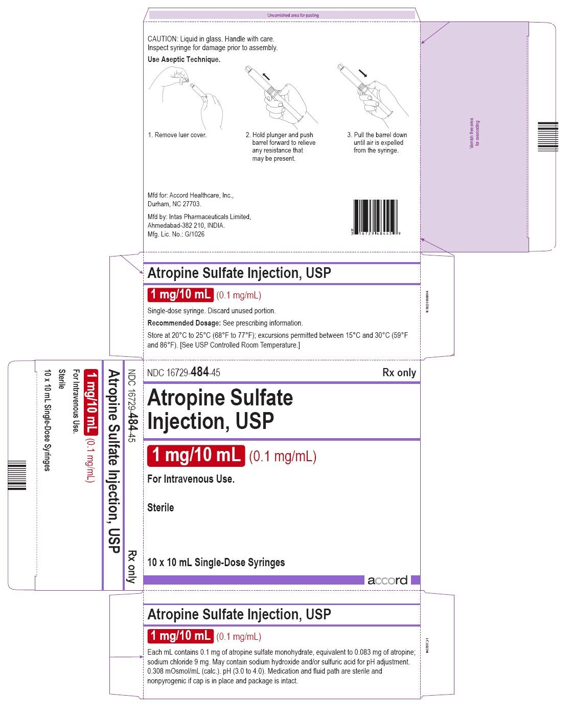 PRINCIPAL DISPLAY PANEL - 10 x 10 mL Syringe Carton