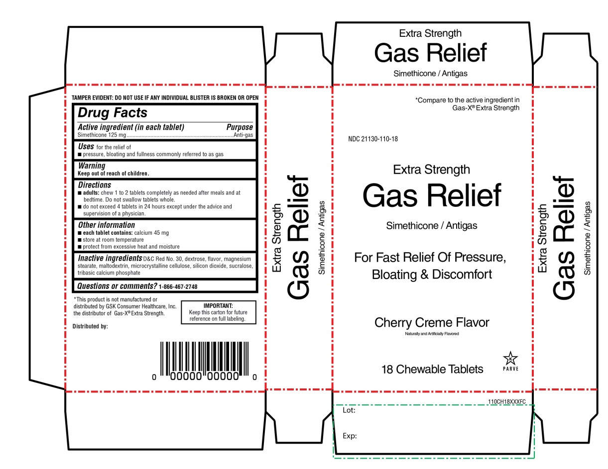 Extra Strength Gas Relief Simethicone 18 Chewable Tablets