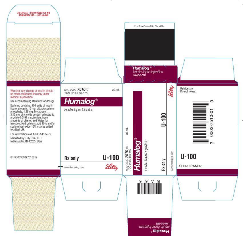 PACKAGE CARTON – HUMALOG 10 mL vial 1ct