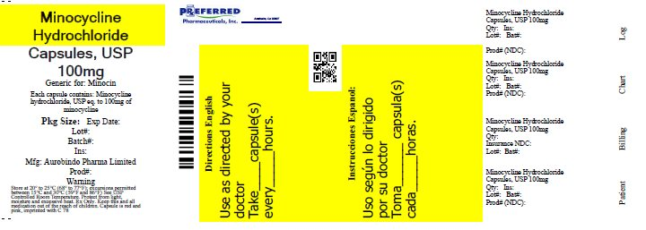 Minocycline Hydrochloride Capsules, USP 100mg