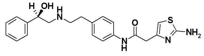 Mirabegron structural formula
