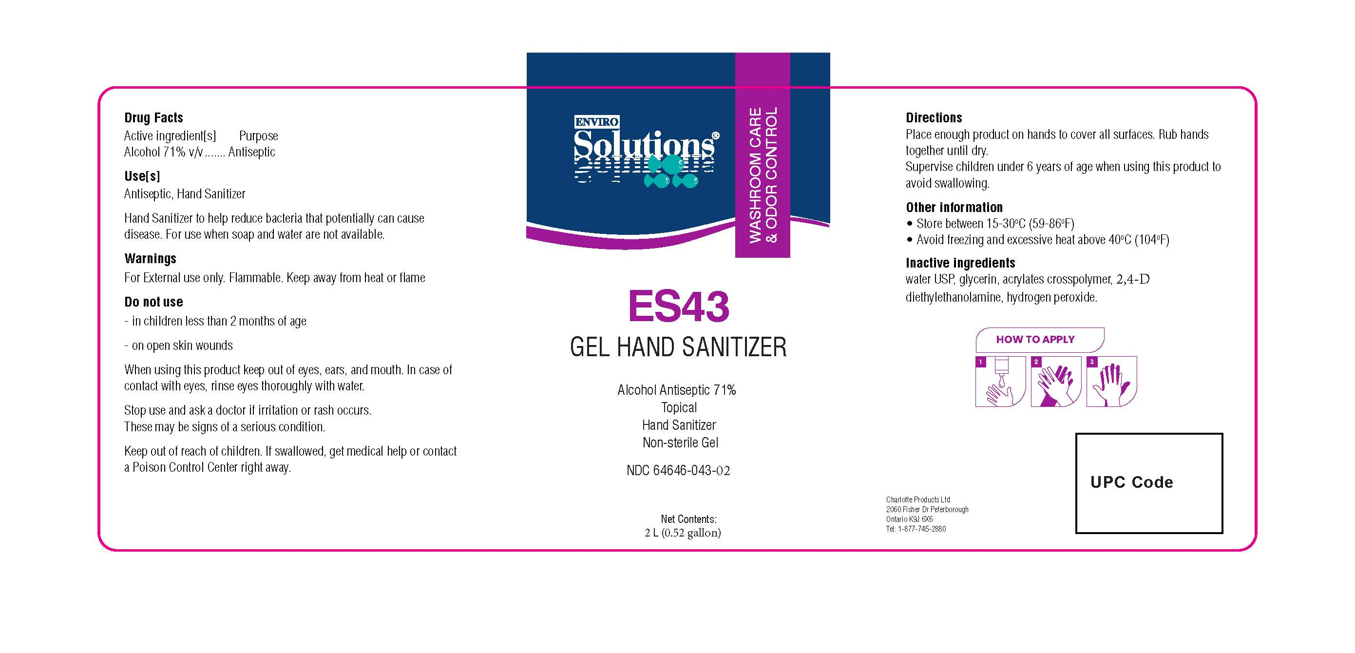 ES43 2L label