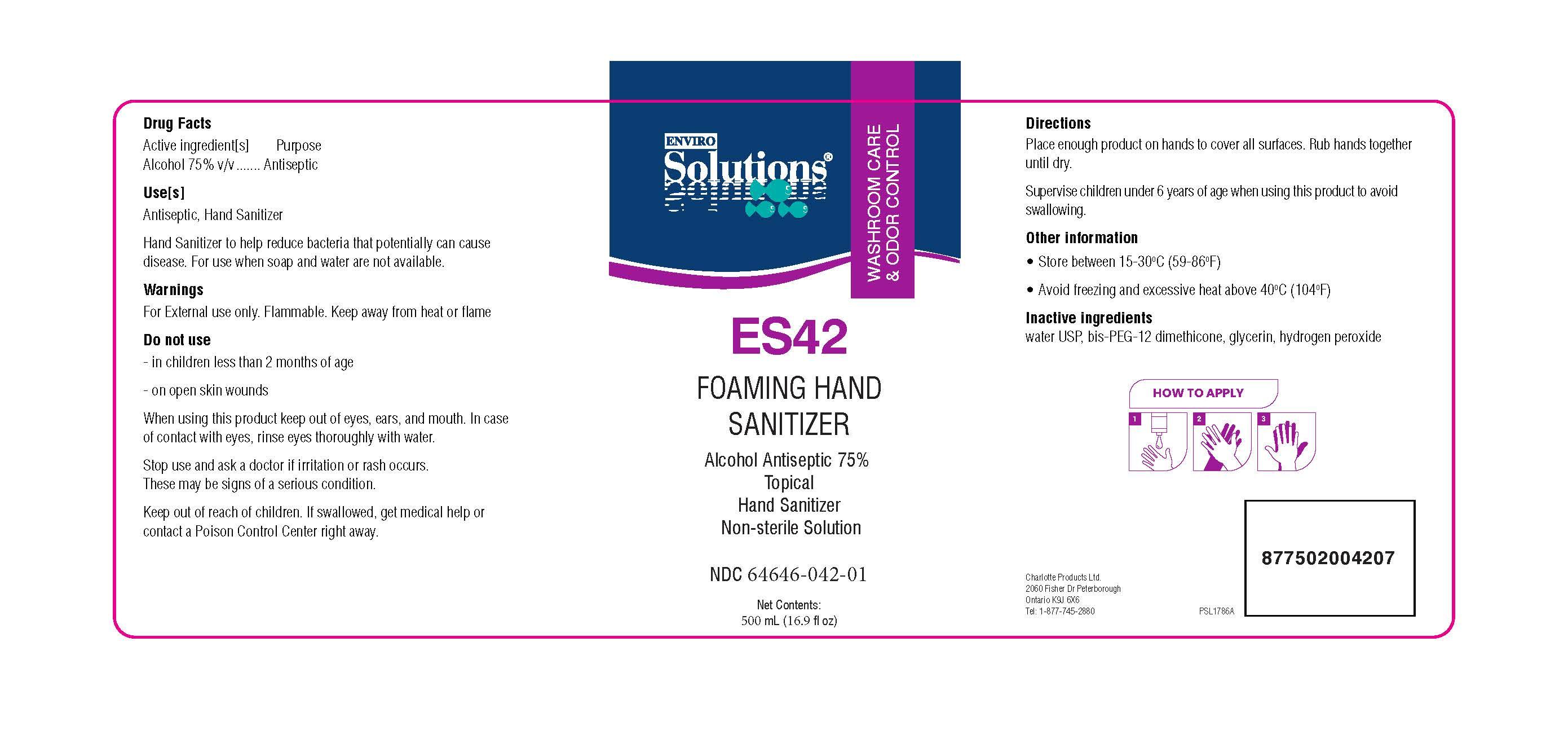 ES42 500 ml label