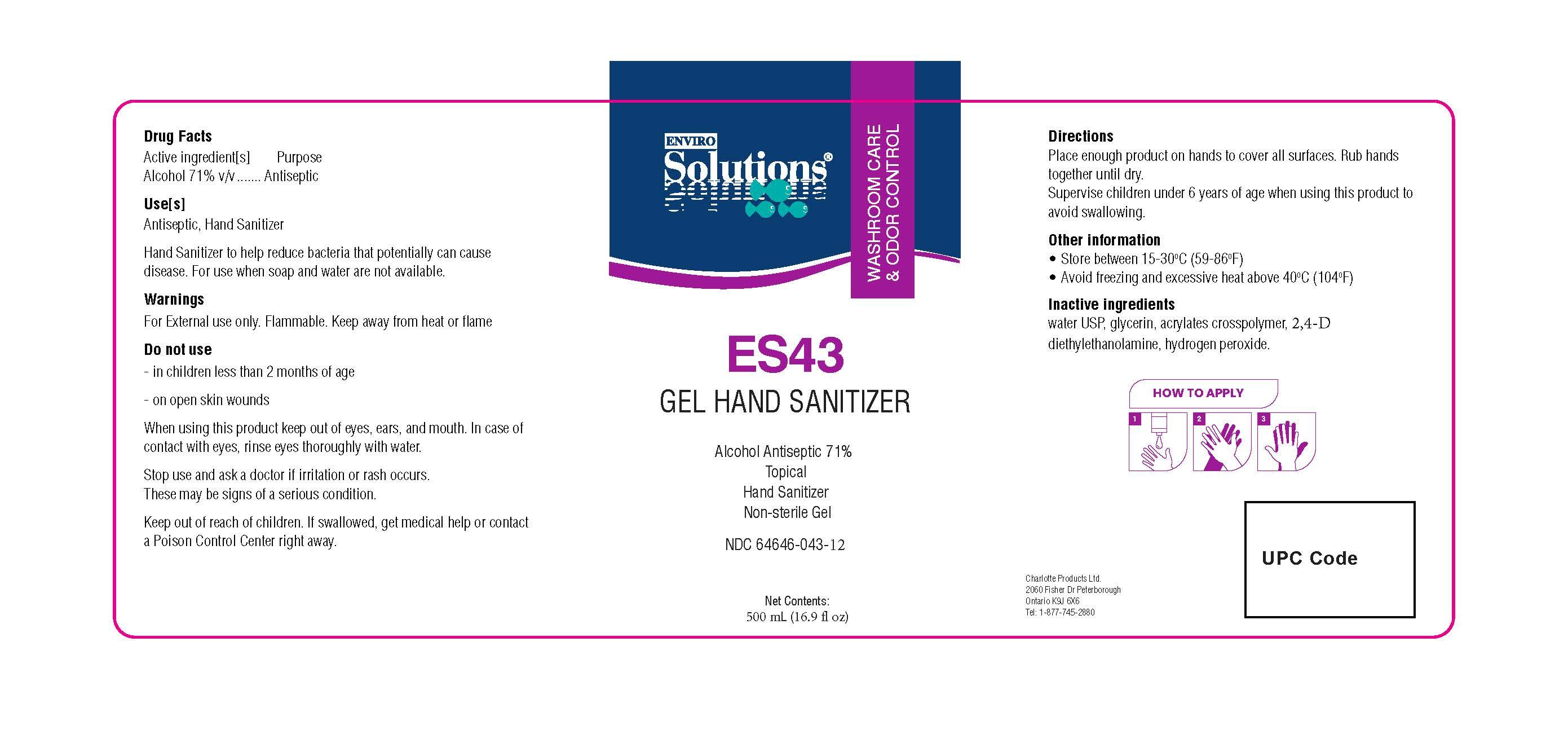 ES43 500ml label