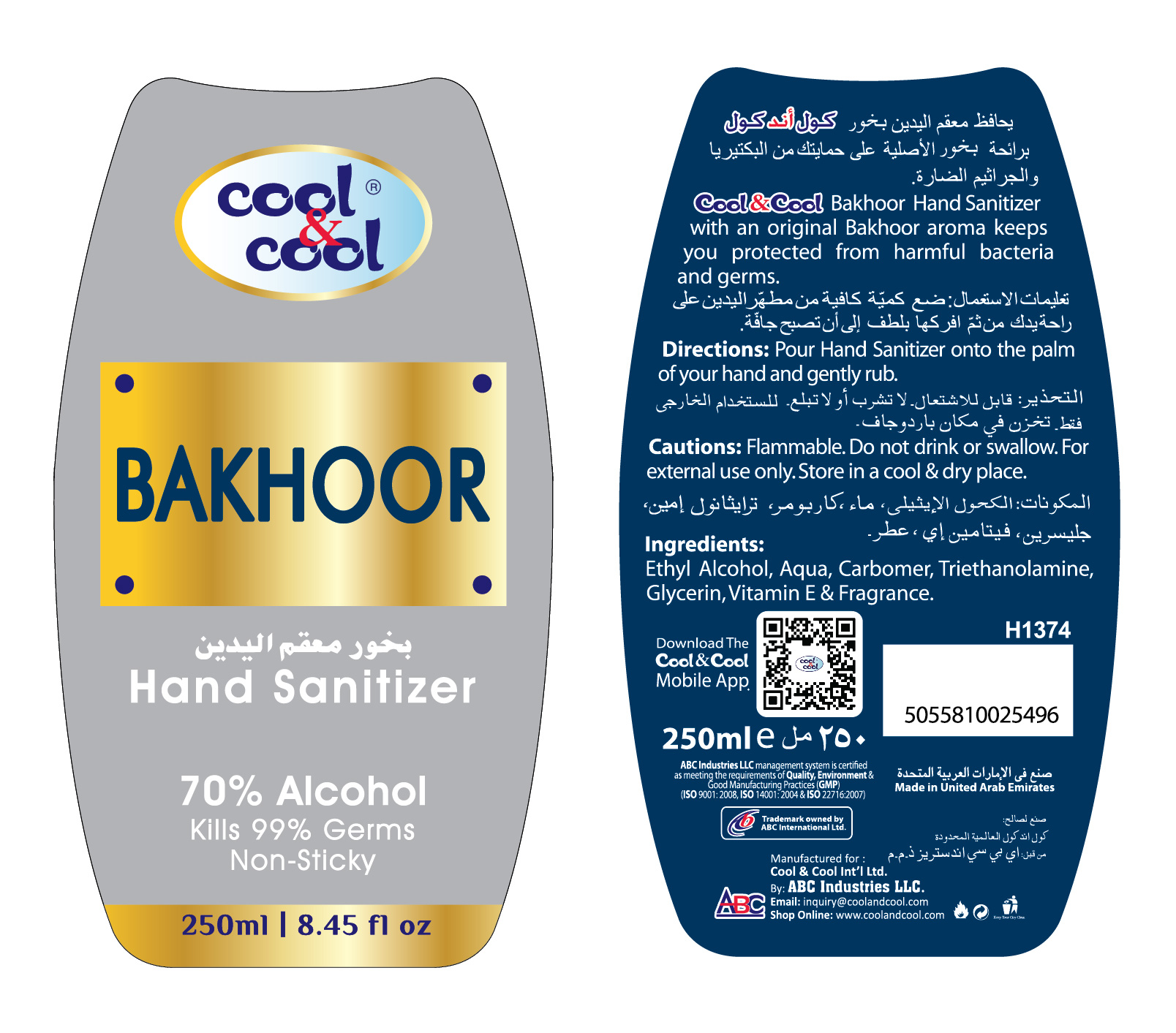 250ml sanitizer gel