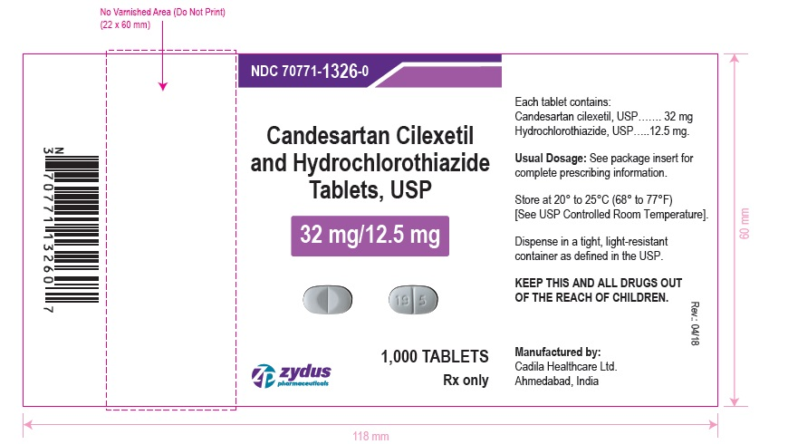 Candesartan cilexetil and hydrochlorothiazide  tablets