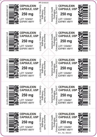 250 mg Cephalexin Capsule Blister