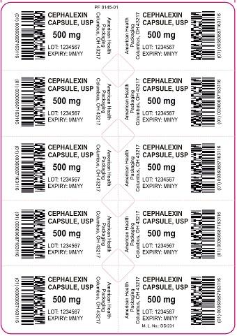 500 mg Cephalexin Capsule Blister