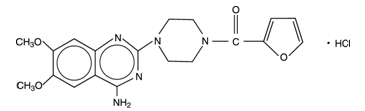 Prazosin Hydrochloride Structural Formula
