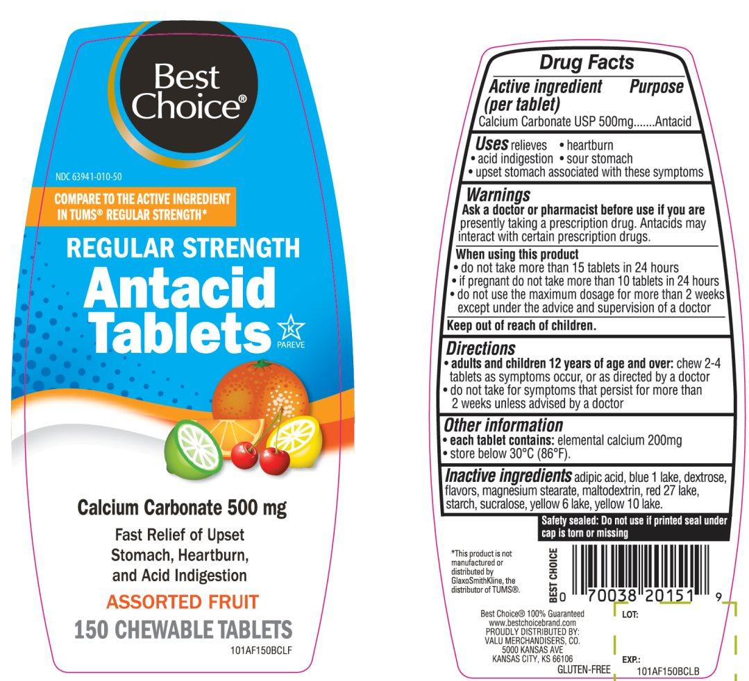 Best Choice Regular Strength Antacid Tablets