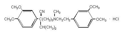 Verapamil Hydrocloride Structural Formula