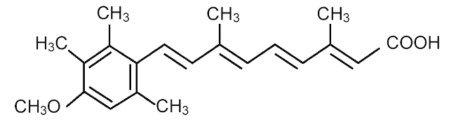 Structural Formula of Acetretin