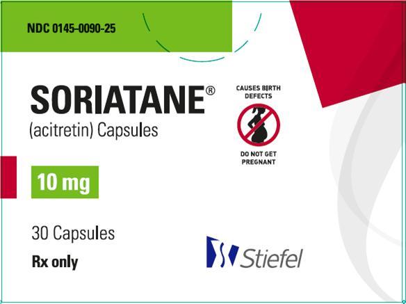 Soriatane 10mg 30 count carton