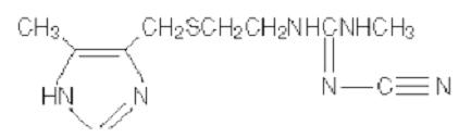 Structural formula for cimetidine
