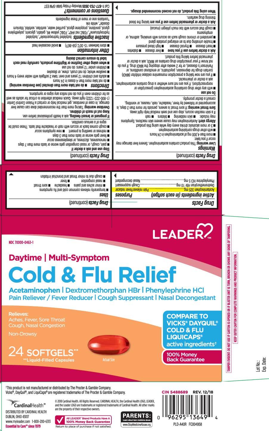 Acetaminophen 325 mg, Dextromethorphan HBr 10 mg, Phenylephrine HCI 5 mg