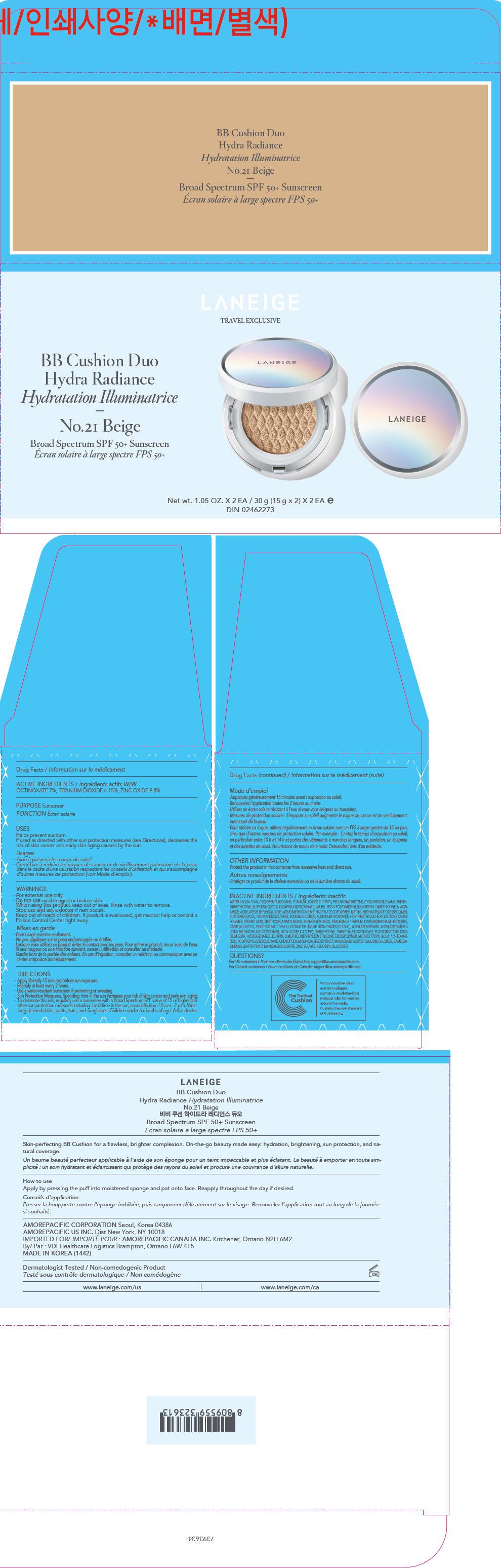 PRINCIPAL DISPLAY PANEL - x 2 (15 g x 2 Container Carton) Carton - No.21 Beige