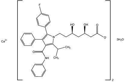 Atorvastatin Calcium Structural Formula