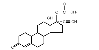 norethindrone-acetate-structure