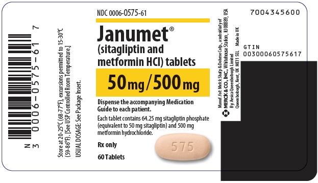 PRINCIPAL DISPLAY PANEL -  50 mg/500 mg Tablet Bottle Label