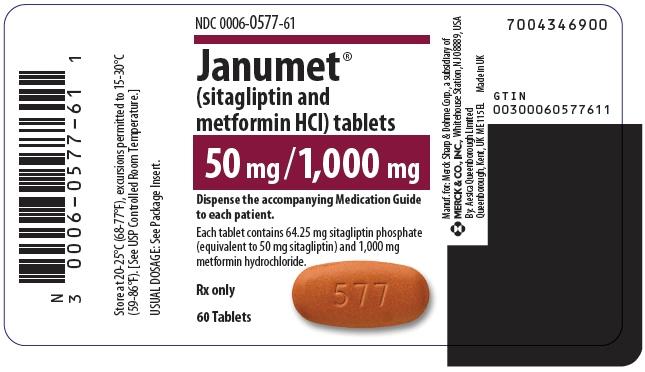 PRINCIPAL DISPLAY PANEL -  50 mg/1,000 mg Tablet Bottle Label