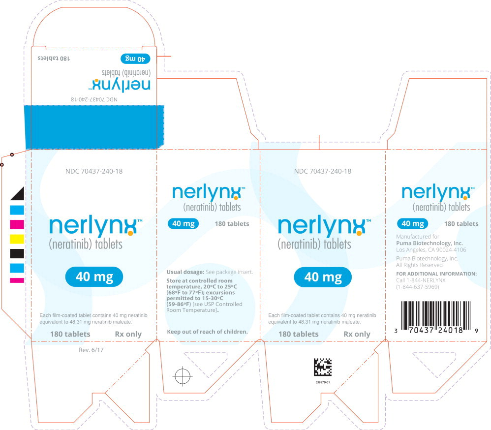 Principal Display Panel - Nerlynx 180 Tablets Carton Label