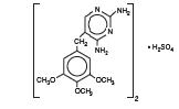 Trimethoprim sulfate (Structural formula)