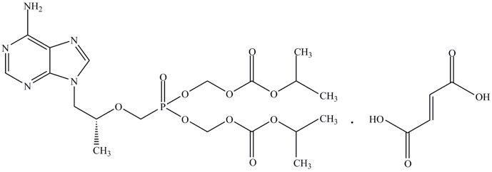 Tenofovir Disoproxil Fumarate Structural Formula