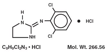 Structured Product Formula for Clonidine HCl