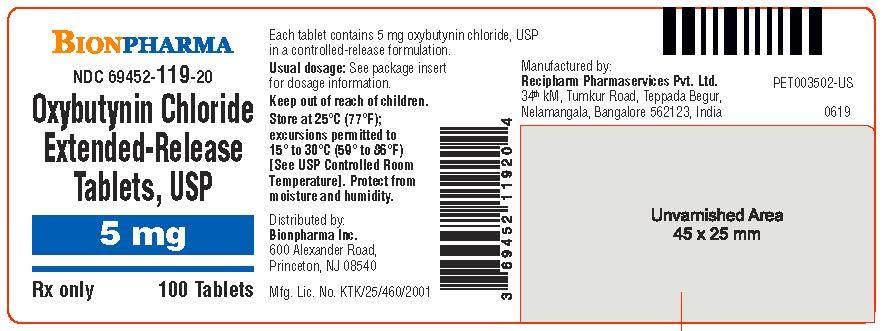 5 mg 100's Bottle Label