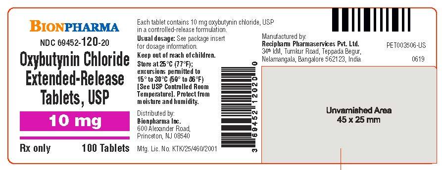 10 mg 100's Bottle Label