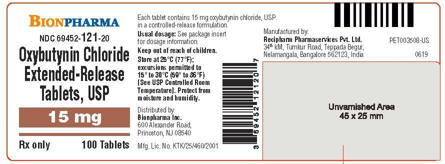 15 mg 100's Bottle Label