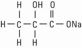 structural formula sodium lactate