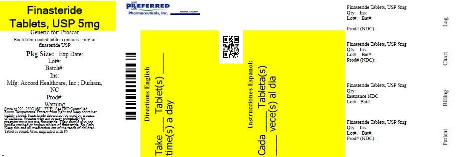 Finasteride Tablets USP 5mg