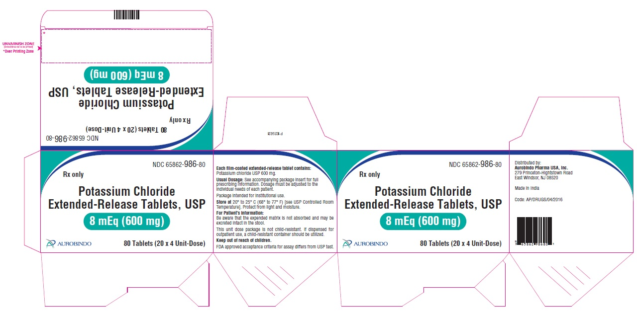 PACKAGE LABEL-PRINCIPAL DISPLAY PANEL - 8 mEq (600 mg) Blister Carton (20 x 4 Unit-Dose Tablets) Label