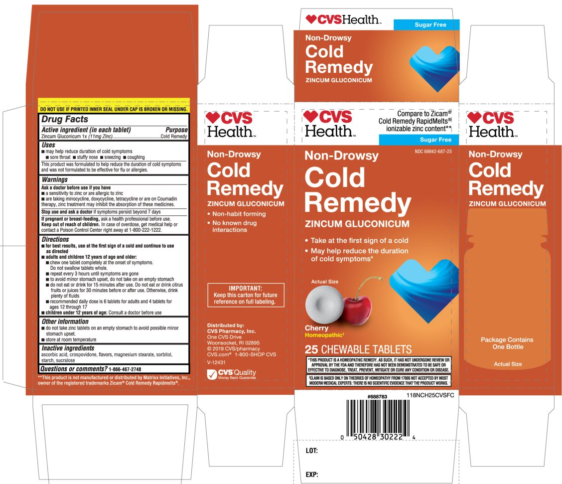 CVS Health Cold Remedy Cherry Flavor 25 Chewable Tablets