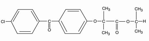 fenofibrate-structure
