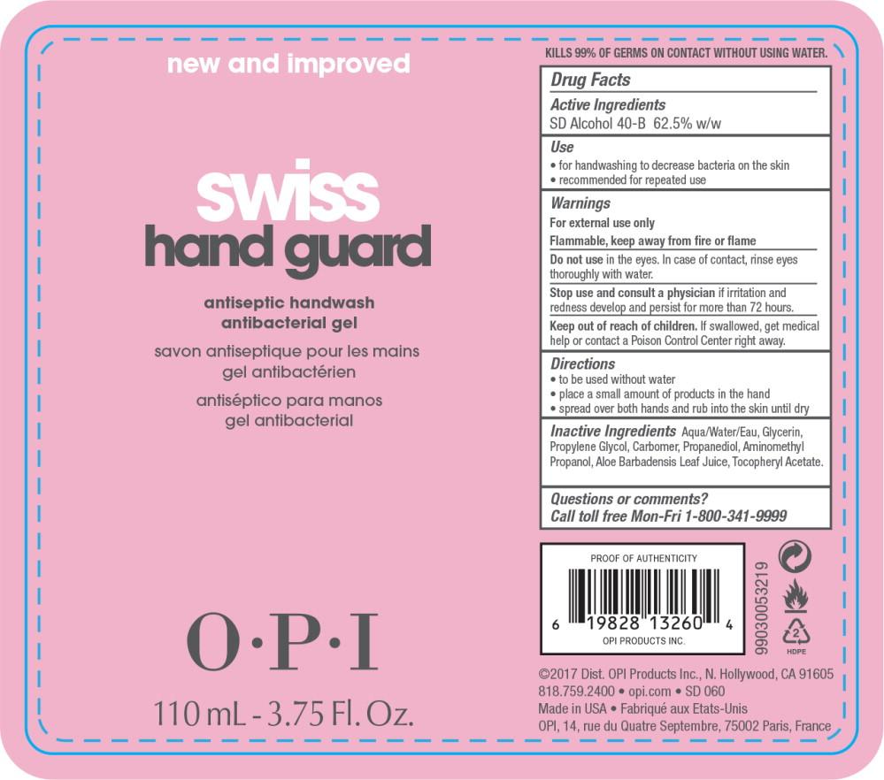 Principal Display Panel - Swiss Hand Guard 110 mL Bottle Label
