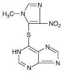structure formula for Azathioprine
