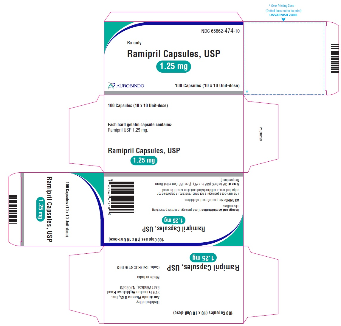 PACKAGE LABEL-PRINCIPAL DISPLAY PANEL - 1.25 mg Blister Carton (10 x 10 Unit-dose)