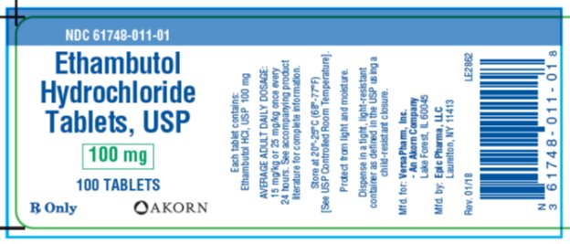 Ehambutol Hydrochloride Tablets, USP 100 mg/100 tablets