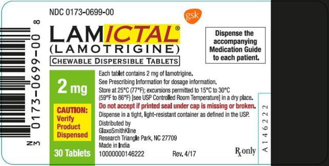 Lamictal 2mg Tablet Oral Suspension label