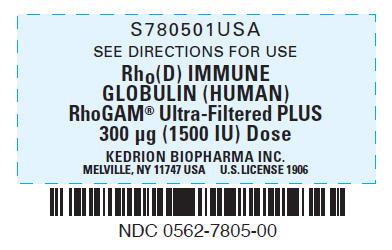 PRINCIPAL DISPLAY PANEL - 300 μg Syringe Label
