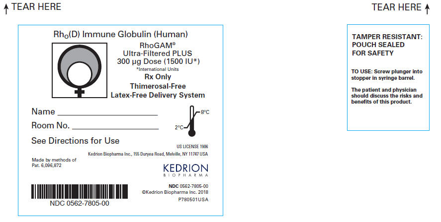 PRINCIPAL DISPLAY PANEL - 300 μg Syringe Pouch Label