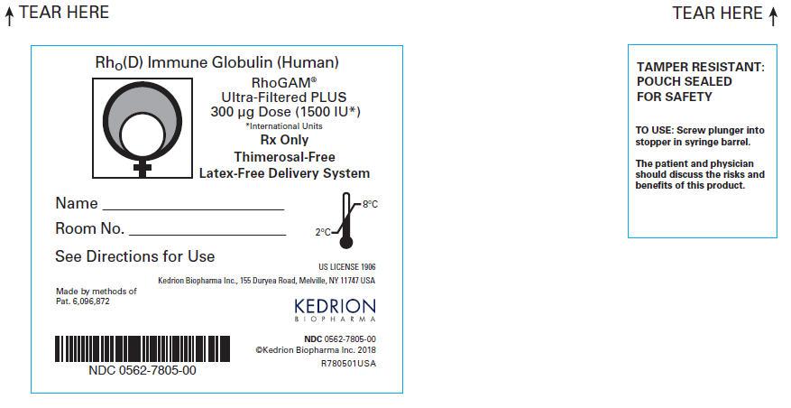PRINCIPAL DISPLAY PANEL - 300 μg Syringe Pouch Label (Rework)