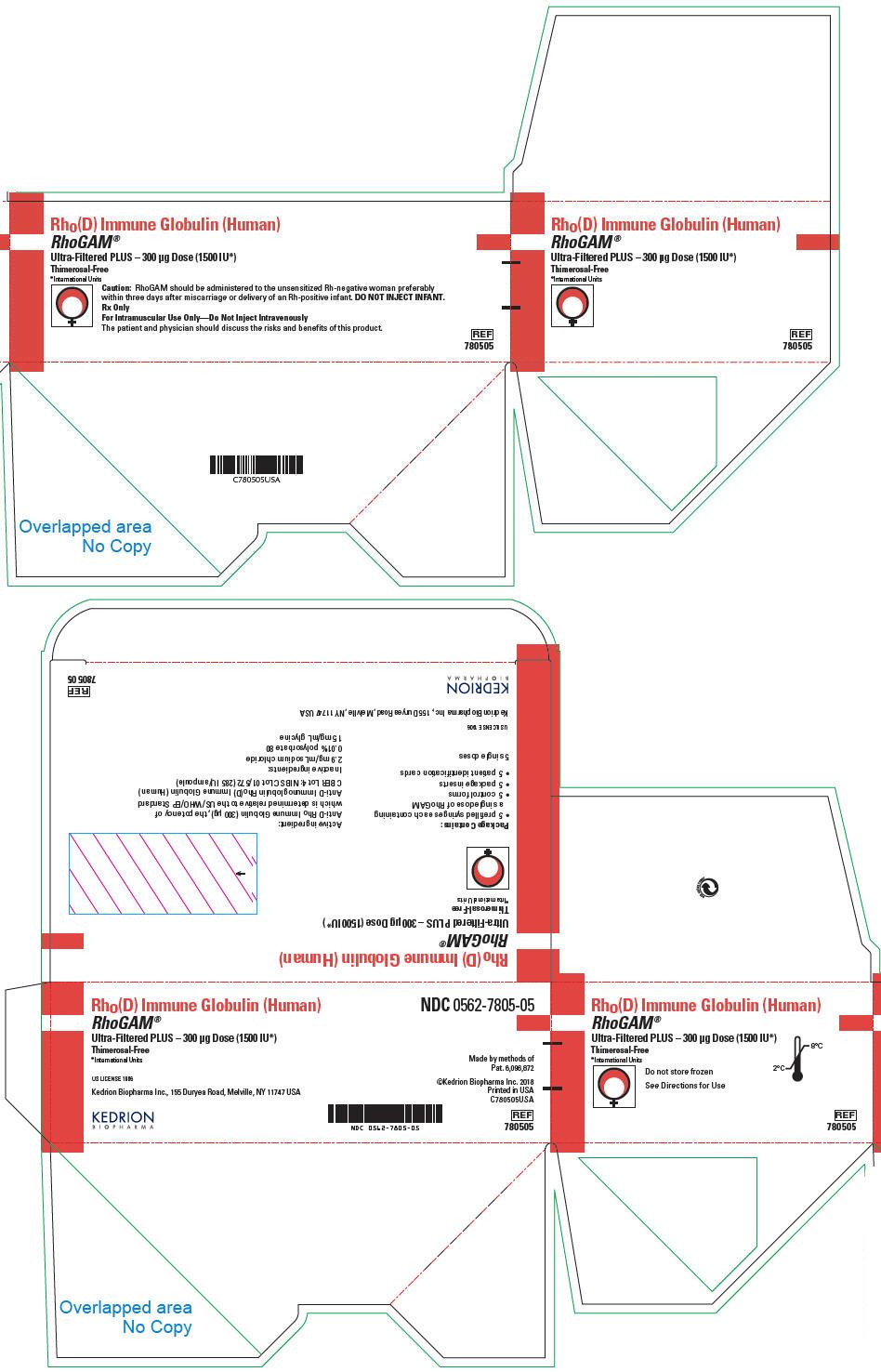PRINCIPAL DISPLAY PANEL - 300 μg Syringe Pouch Carton - 05