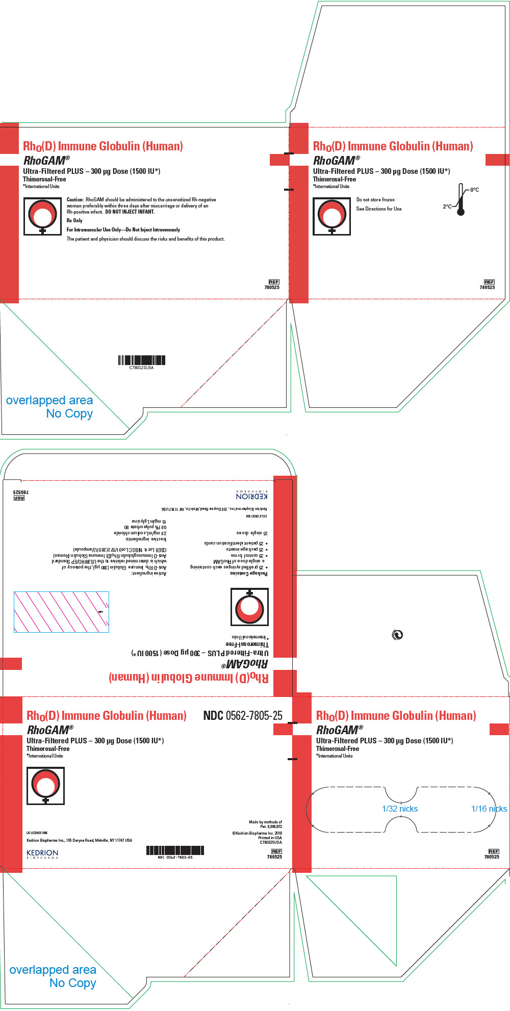 PRINCIPAL DISPLAY PANEL - 300 μg Syringe Pouch Carton - 25