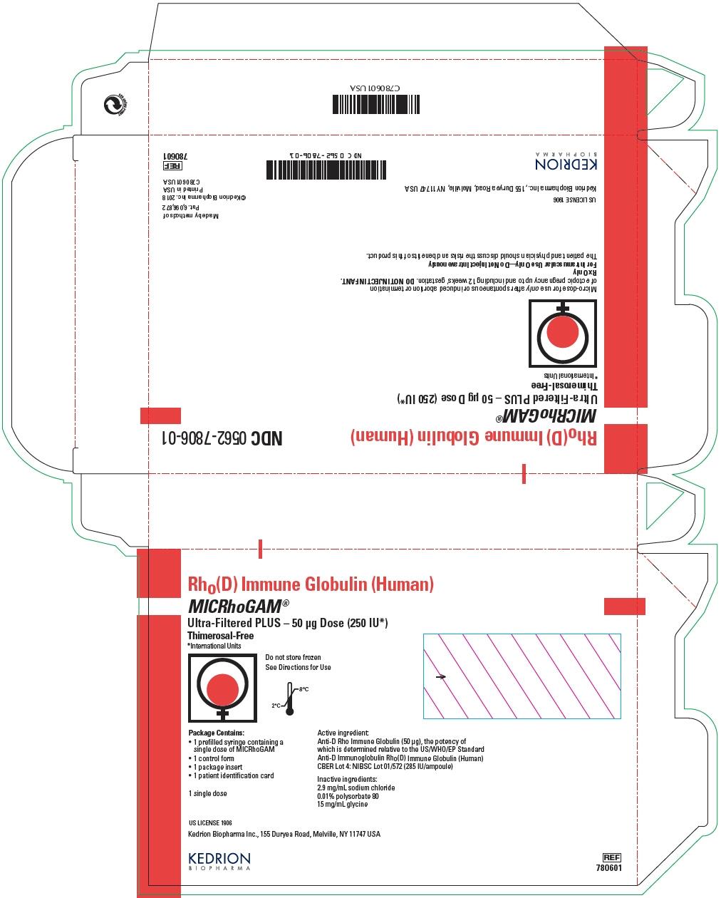 PRINCIPAL DISPLAY PANEL - 50 μg Syringe Pouch Carton - 01