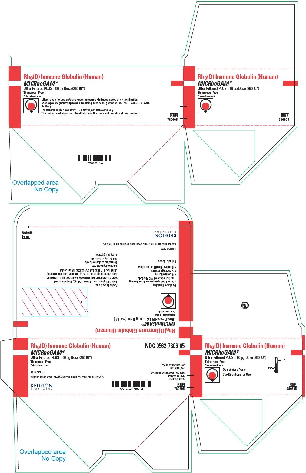 PRINCIPAL DISPLAY PANEL - 50 μg Syringe Pouch Carton - 05