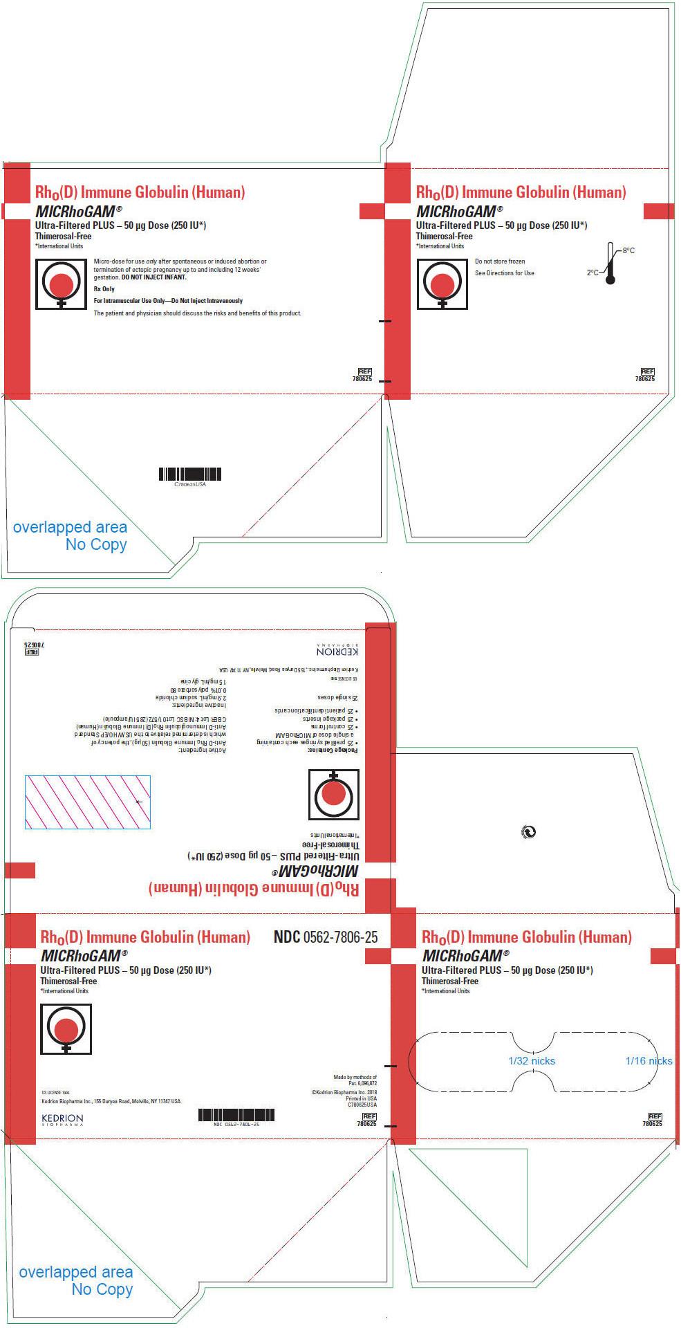 PRINCIPAL DISPLAY PANEL - 50 μg Syringe Pouch Carton - 25